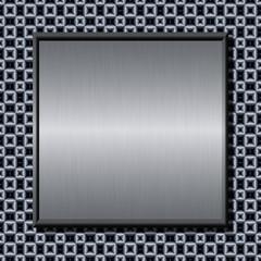 Brushed metal plate