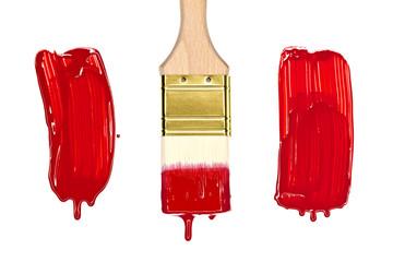 Pinsel und Farbklecks isoliert