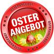 Button Osterangebot Ostereier rot