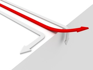 rising red success arrow business competition winner