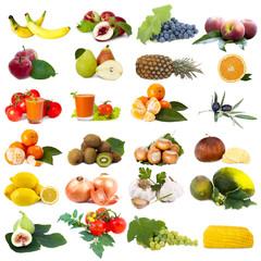 colección de frutas aisladas
