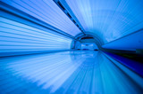 tanning bed from inside