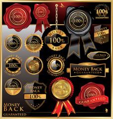 money back satisfaction vector labels
