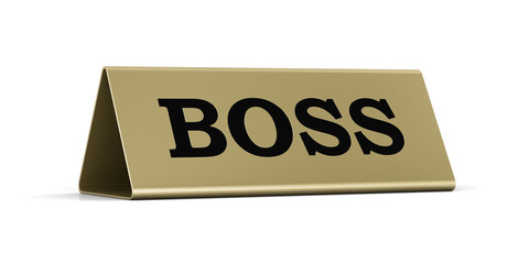 Boss identification plate