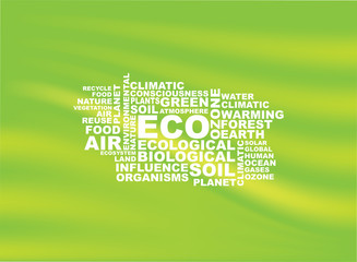 eco words background