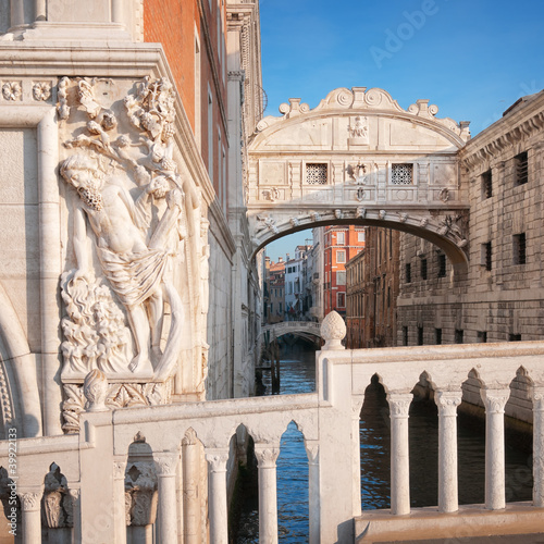 Bridge of Sighs in Venice.