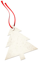 Christmas Hangtags Tree Red Bow