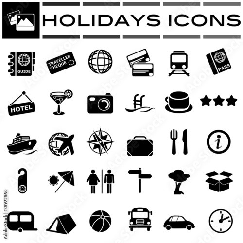 holidays Black Icons