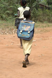 Fototapety Africa Benin bambini scuola