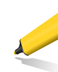 gelber Textmarker