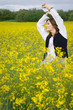 girl in rapeseed field