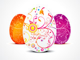 abstract ester egg in floral