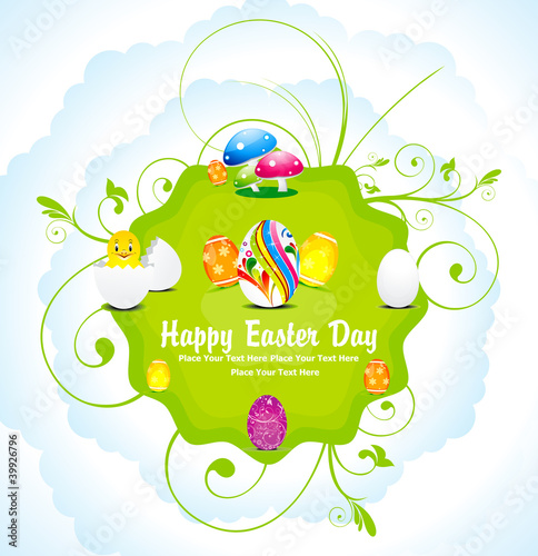 abstract colorful easter day background