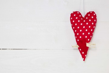 Ein rotes Herz zum Glücklichsein