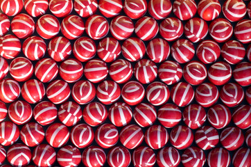 Red and white paintballs background