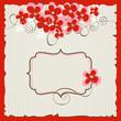 Retro vector floral background