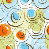 Abstract floral background (seamless pattern)