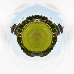 Circle panorama of Chinese temple.