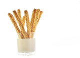 grissini bread sticks with sesame