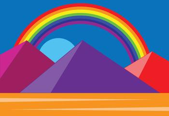 Pyramid and rainbow
