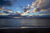 dramatic clouds and deep colors from Kaanapali beach sunset