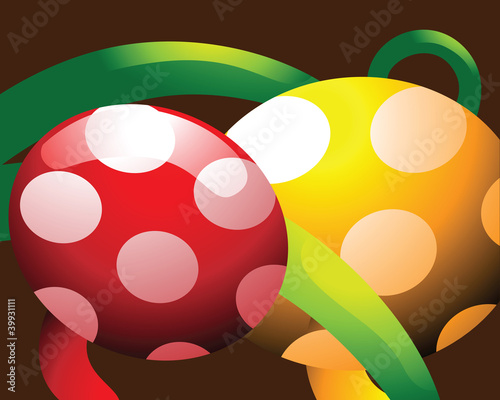 Colourful egg