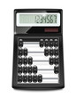 electronic calculator abacus vector illustration isolated on
