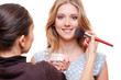 make up artist doing make up