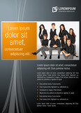 Fototapety Black and orange template with business people