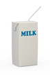 Milk Carton With Straw
