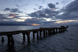 old wharf in lahaina maui at sunset
