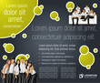 Green lime and black template with business people