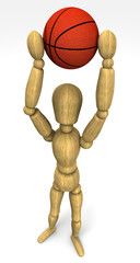 mannequin basketball player