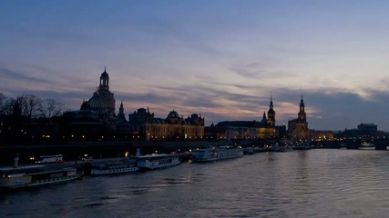 Skyline Dresden timelapse day to night
