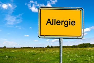 Ortsschild Allergie