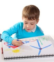 18.3.2012 Junge malt ein Windrad
