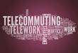 "Word Cloud ""Telecommuting"""