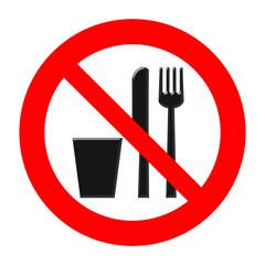 Vietato consumare alimenti e bevande