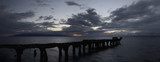 panorama of old pier near lahaina, maui at sunset