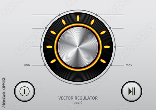 Regulator Button icon set