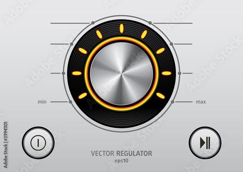 Regulator Button icon set