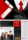 Fototapety Suit with red tie template for advertising with business people