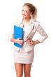 junge blonde Geschäftsfrau