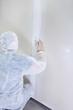 contractor plasterer working