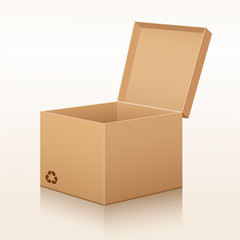 Corrugated box recycle vector illustration
