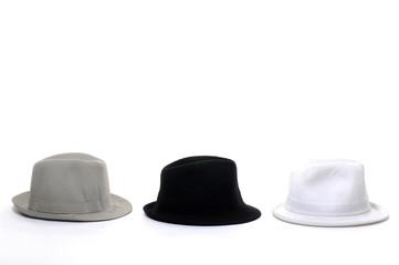 Three stylish hat