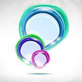 Speech bubble - abstract lustrous background. poster
