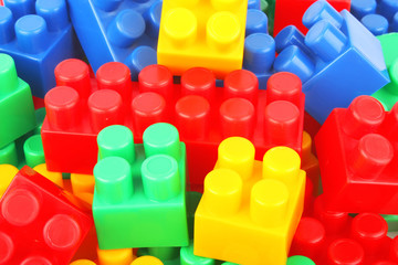 plastic bricks background