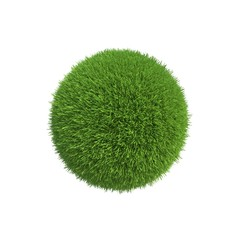 A ball of green grass the conservation of energy on the planet