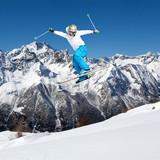 Fototapeta skok - krzyż - Sporty Zimowe